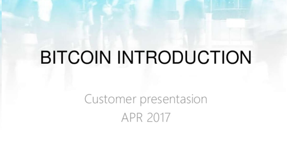 Bitcoin Introduction by CoinPoint, 2017